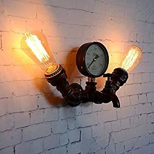 comprar lámpara con tubería estilo steampunk amazon