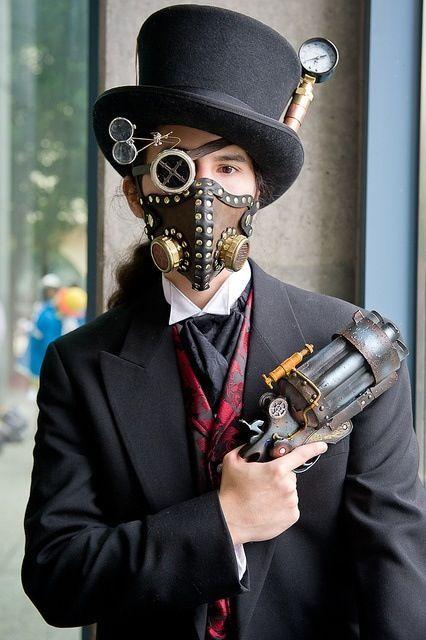 disfraz con accesorios steampunk
