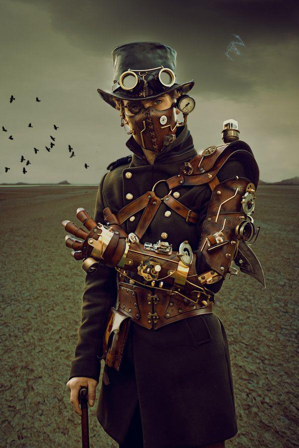 disfraz original hombre estilo steampunk