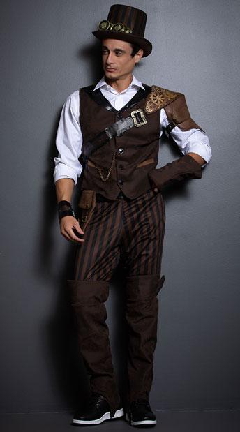 disfraz de explorador steampunk hombre