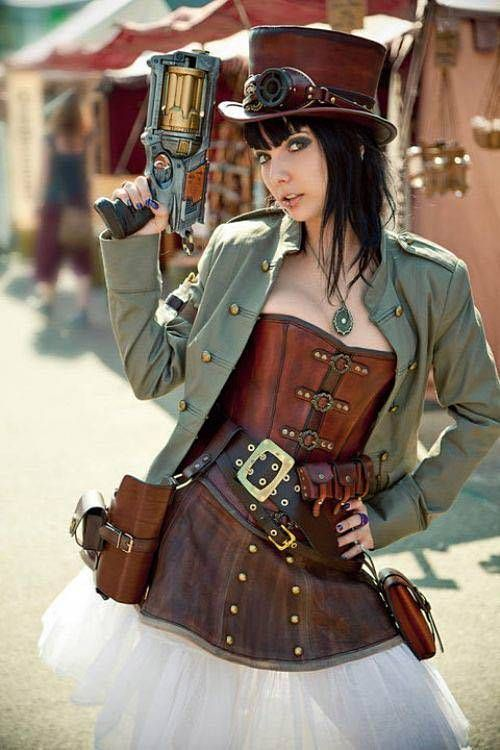 disfraz femenino estilo steampunk