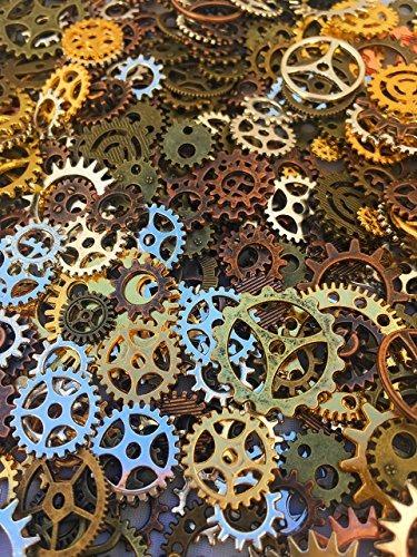 engranajes steampunk de varios colores
