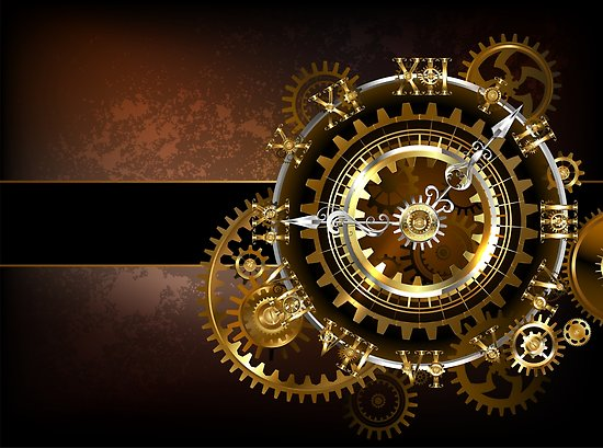 póster engranajes steampunk