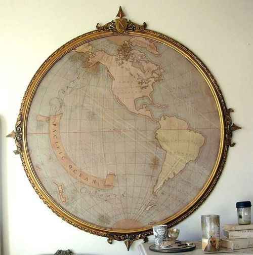 mapa mundi al estilo steampunk