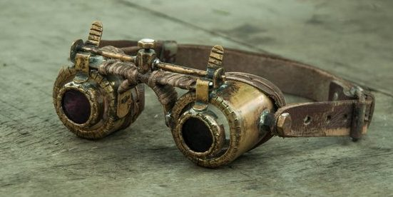 modelo único gafas steampunk