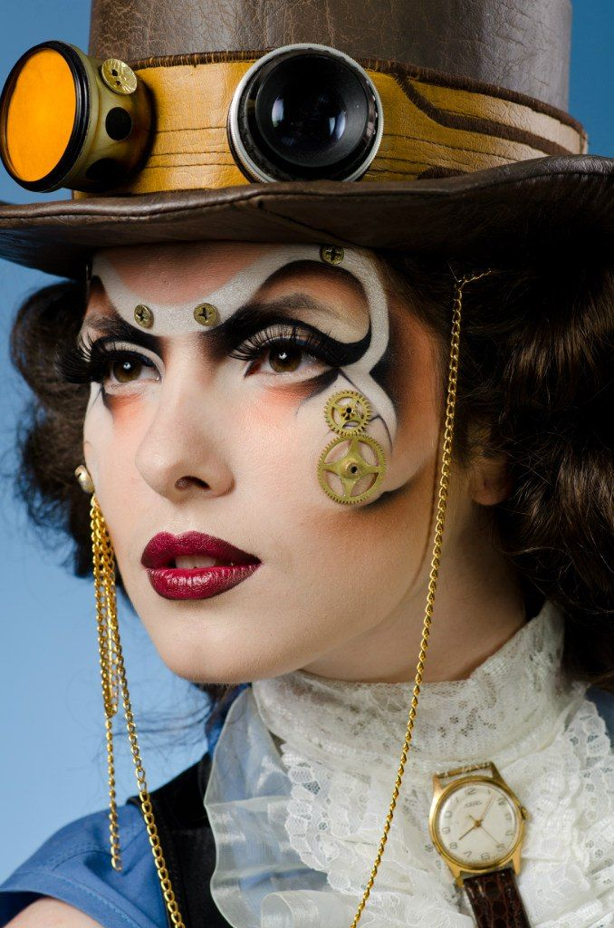 maquilla steampunk victoriano