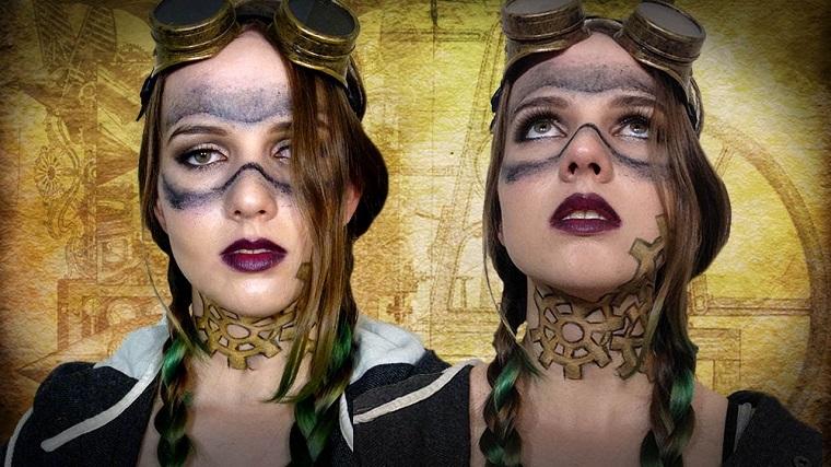 maquillaje mujer steampunk original
