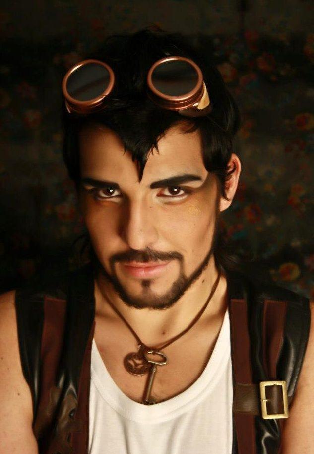 hombre makeup steampunk