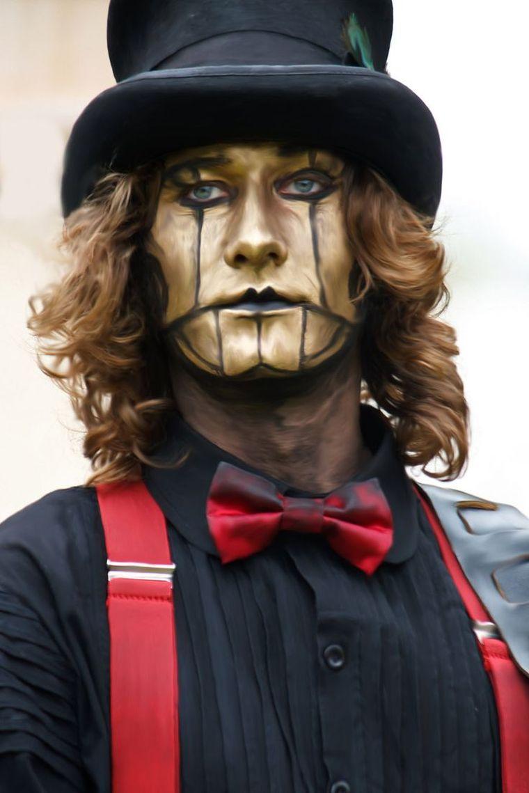 maquillaje steampunk sombrero hombre