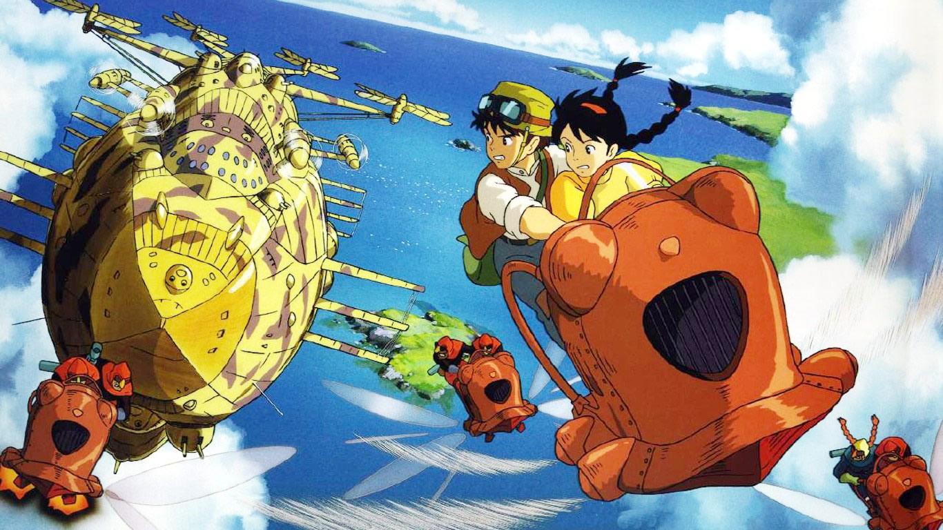 escena película steampunk el castillo en el cielo