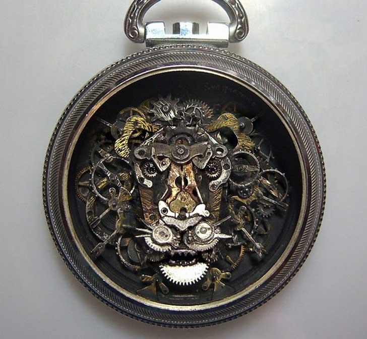 reloj steampunk creativo