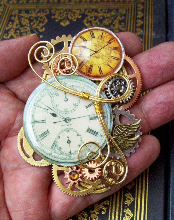reloj estilo steampunk diseño único
