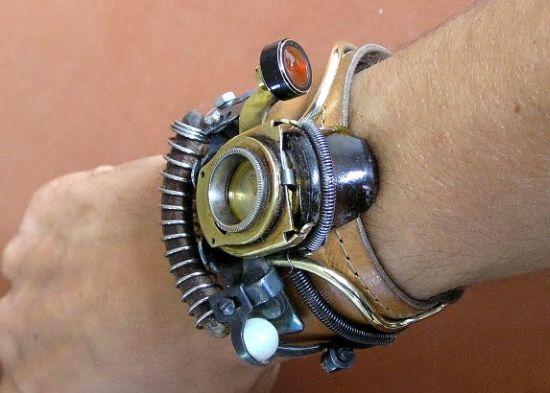 reloj de pulsera estilo steampunk