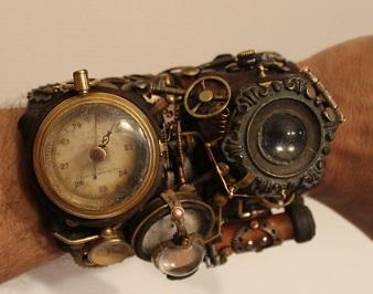 diseño original reloj steampunk