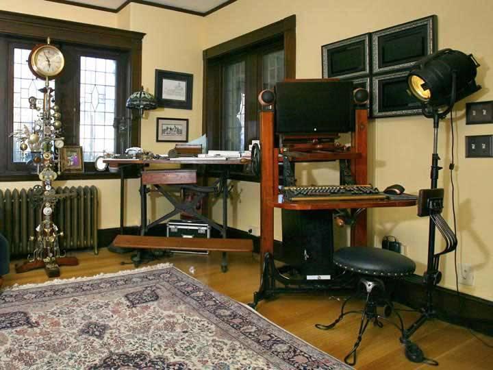 steampunk decoración habitación