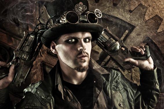 arte masculina del steampunk