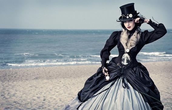 estilo femenino del steampunk