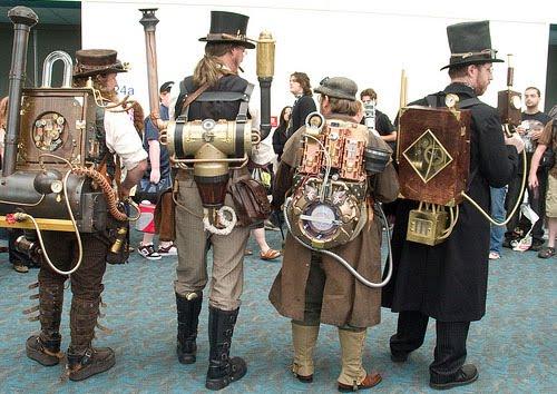 elementos de los disfraces del steampunk