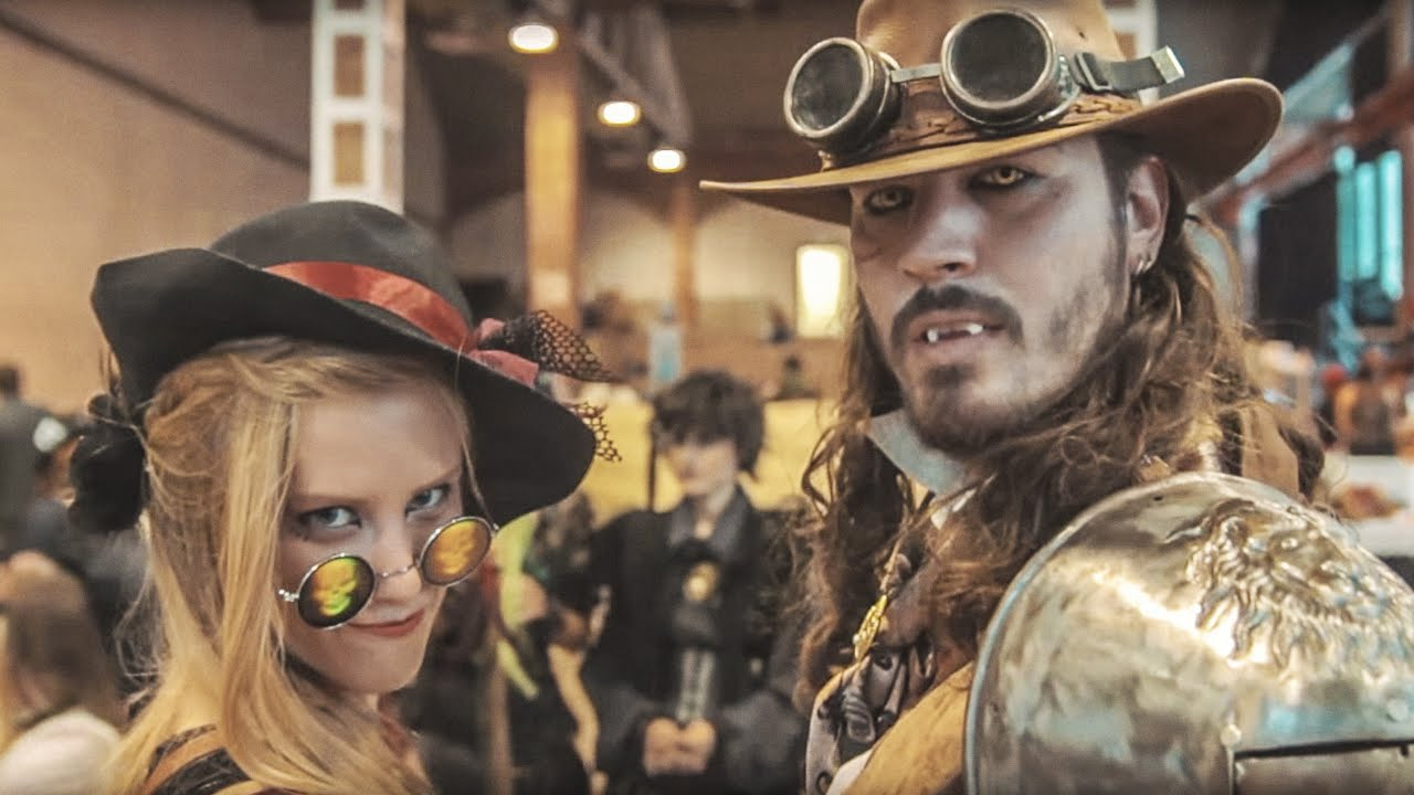 pareja steampunk barcelona