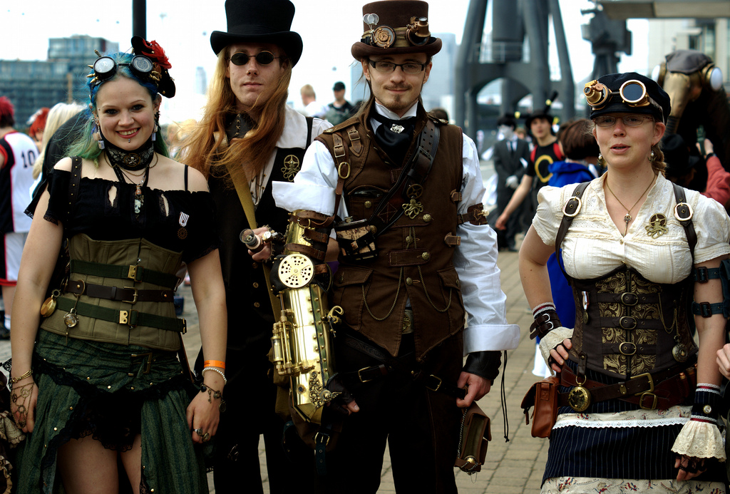 disfraces steampunk en mujeres y hombres