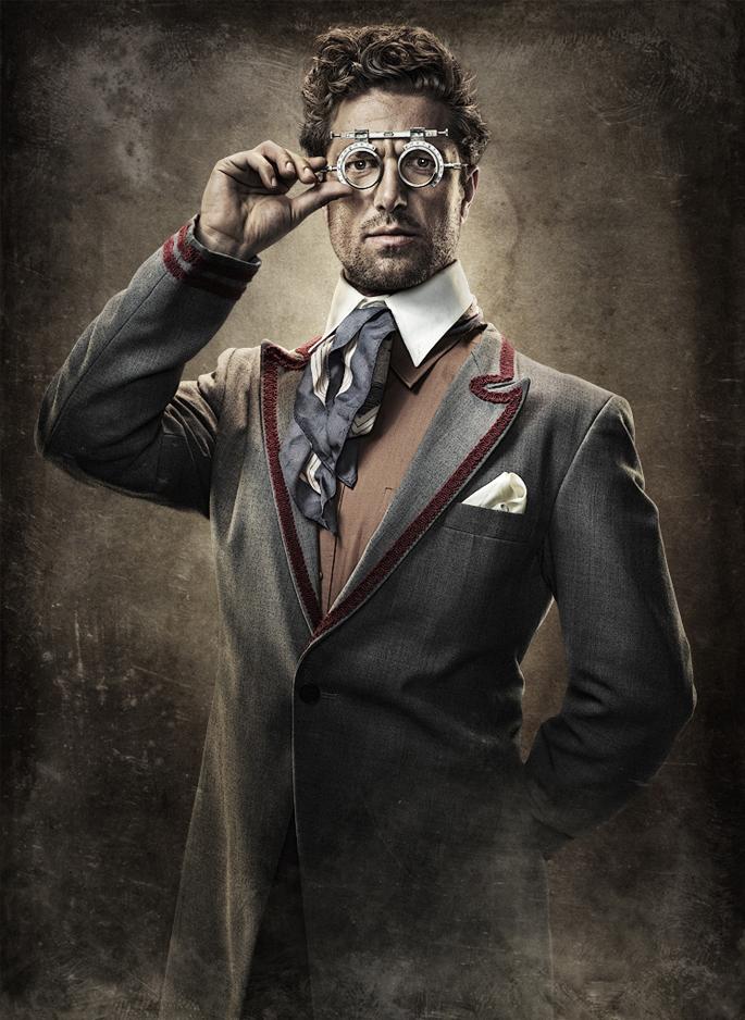 estilo elegante steampunk hombre