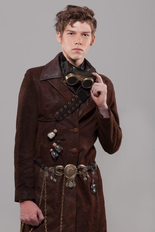 estilo sencillo moda hombre steampunk
