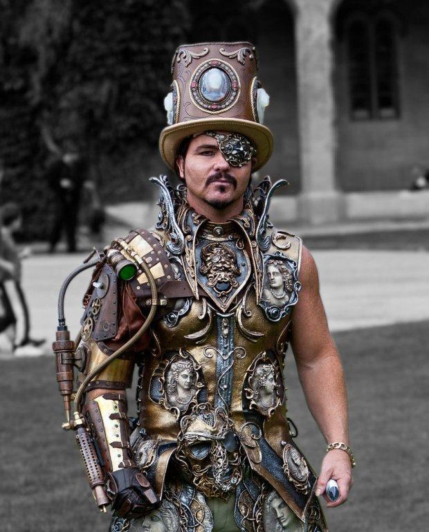 atuendo original steampunk hombre disfraz