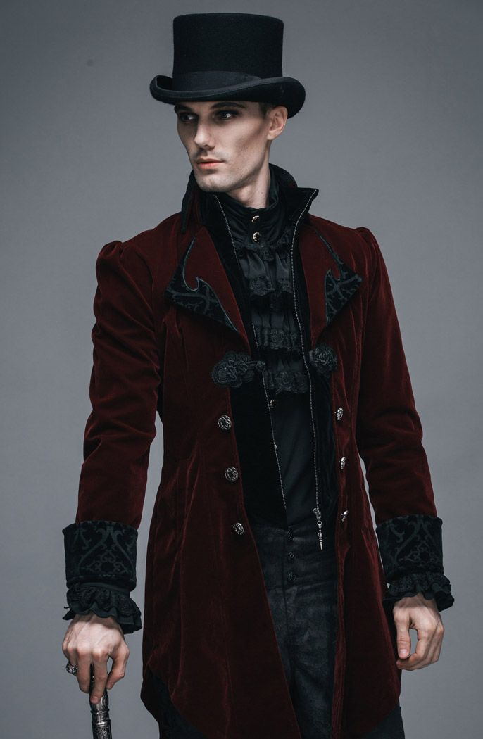 steampunk hombre ropa elegante