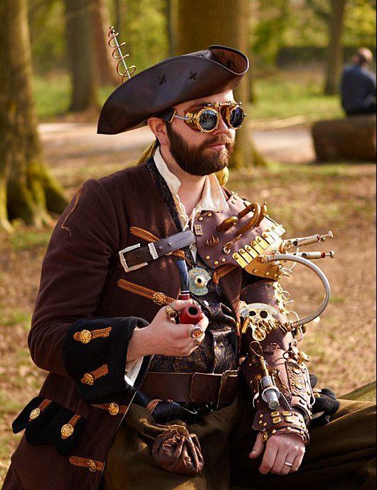 estilo único steampunk hombre