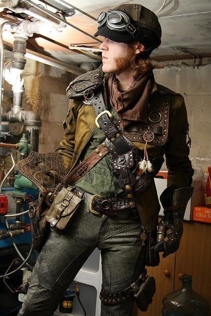 steampunk hombre ropa accesorios