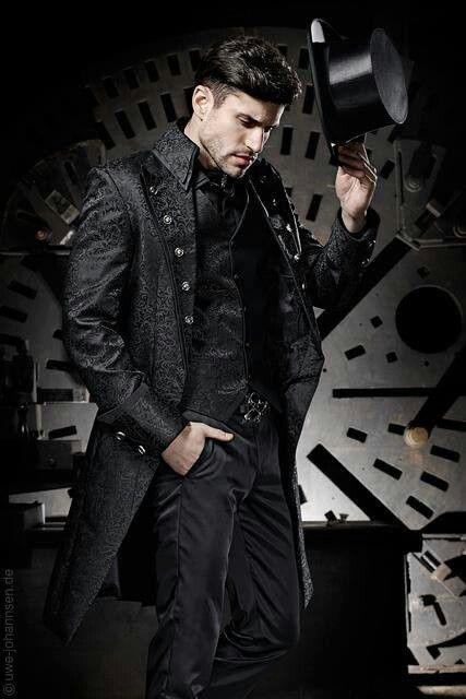 estilo gótico steampunk hombre