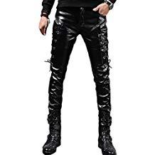 pantalón cuero negro comprar amazon steampunk hombre ropa