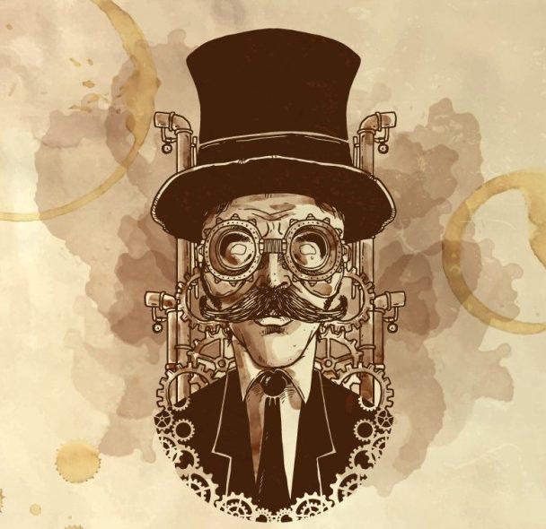 ilustración caballero steampunk