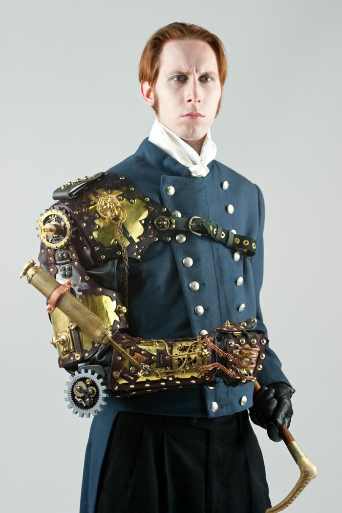 brazo mecánico original atuendo hombre