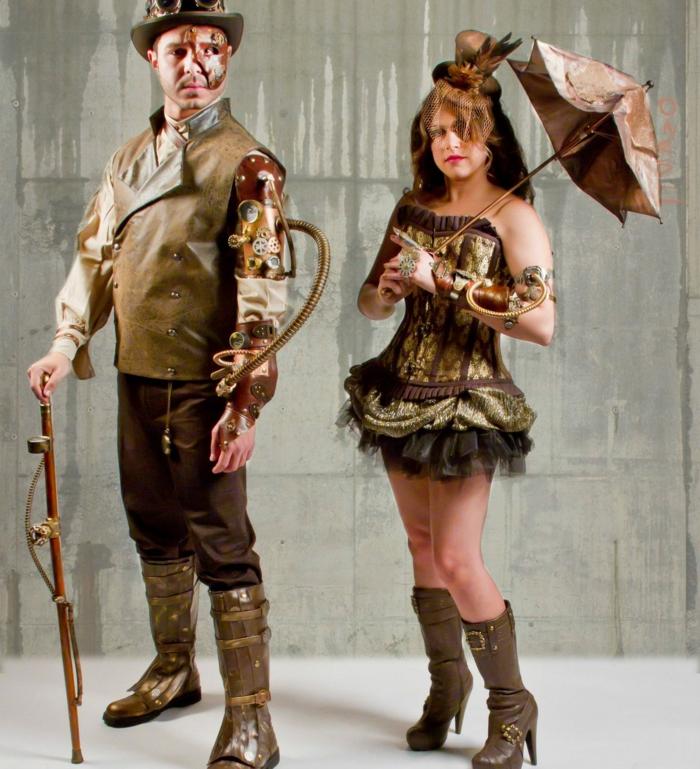 atuendos originales steampunk para hombre y mujer