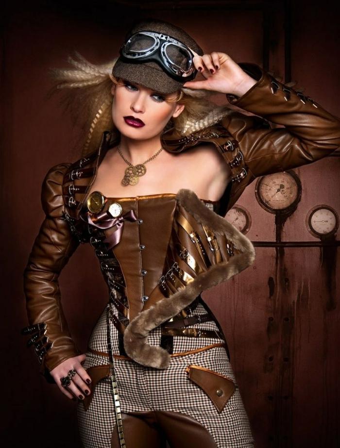 vestido original mujer moda steampunk