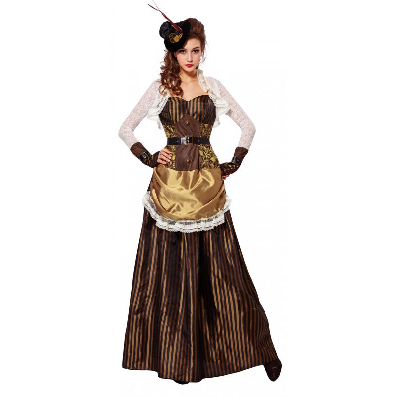 vestido largo para mujer steampunk