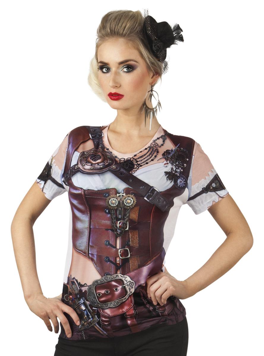 camiseta steampunk para mujeres