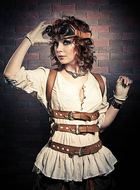 peinado básico steampunk mujer