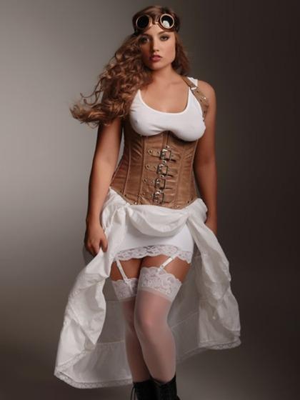 ropa sencilla mujer steampunk