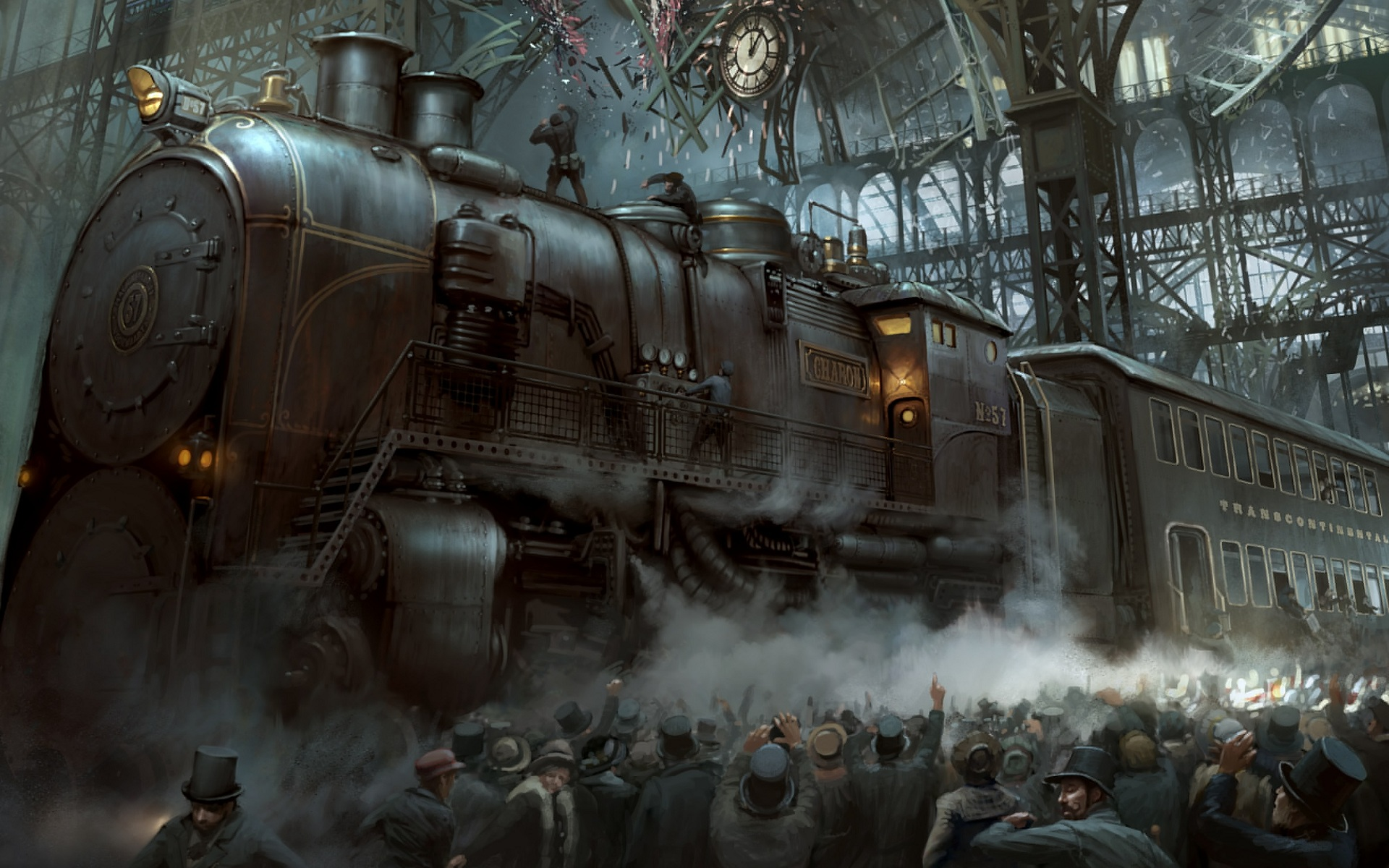 wallpaper tren steampunk
