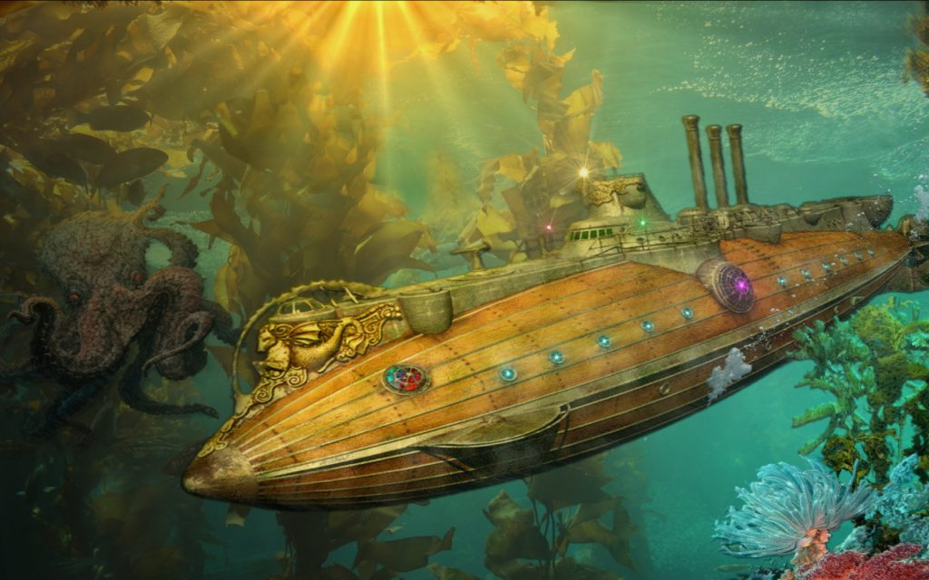 wallpaper submarino steampunk