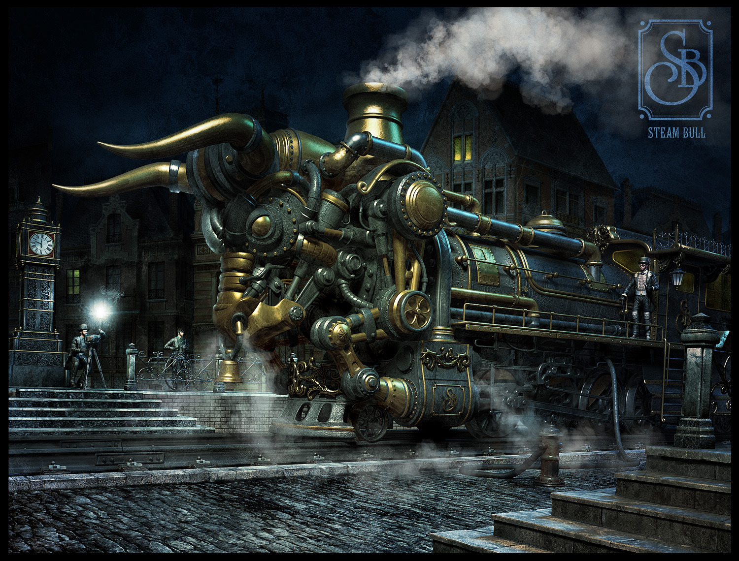 wallpaper ferrocarril steampunk