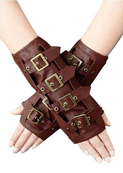 guantes de cuero steampunk
