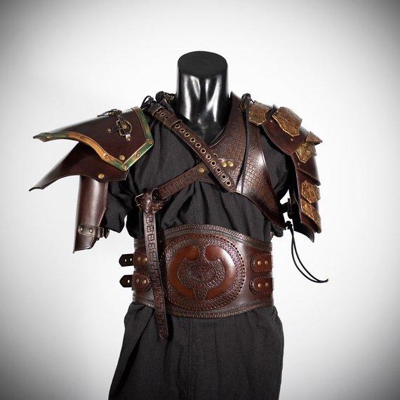 armadura de cuero steampunk