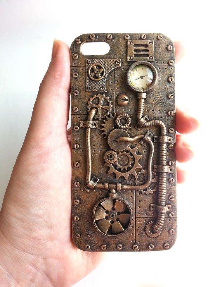 forro teléfono celular steampunk