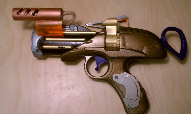 armas steampunk pistola nerf