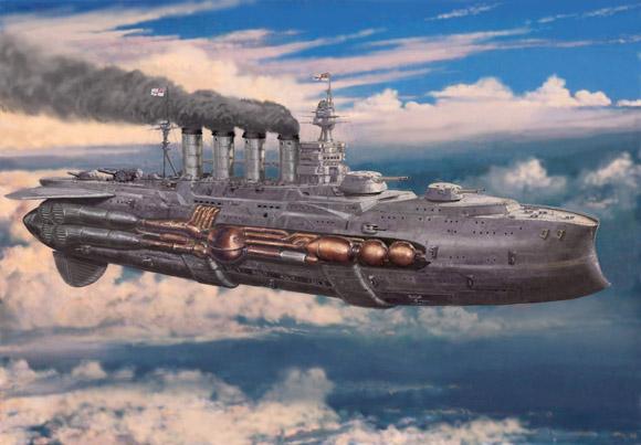 barco con temática steampunk
