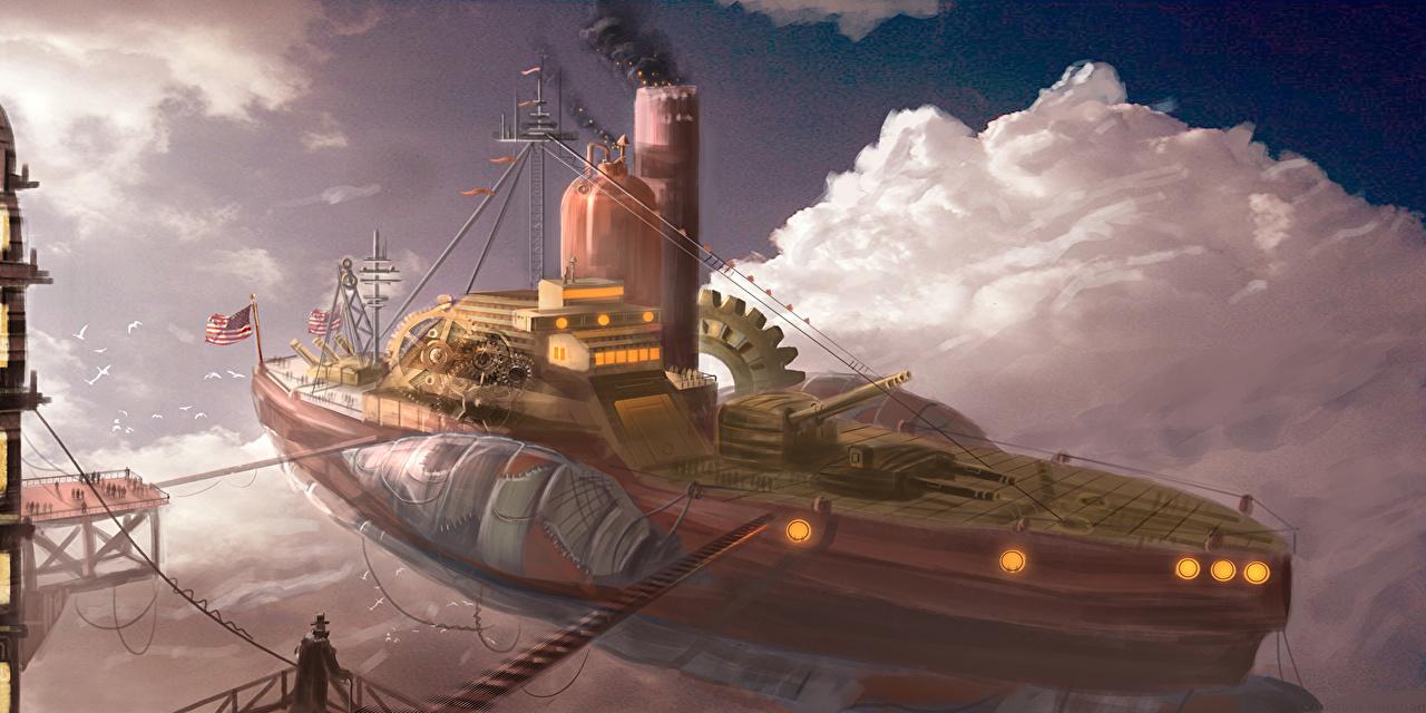 barco estética steampunk