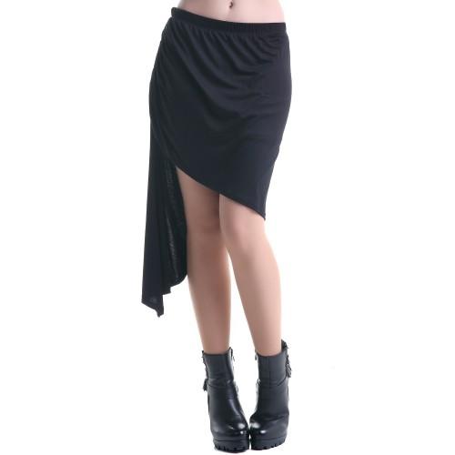 hermosa falda de color negro con estilo steampunk